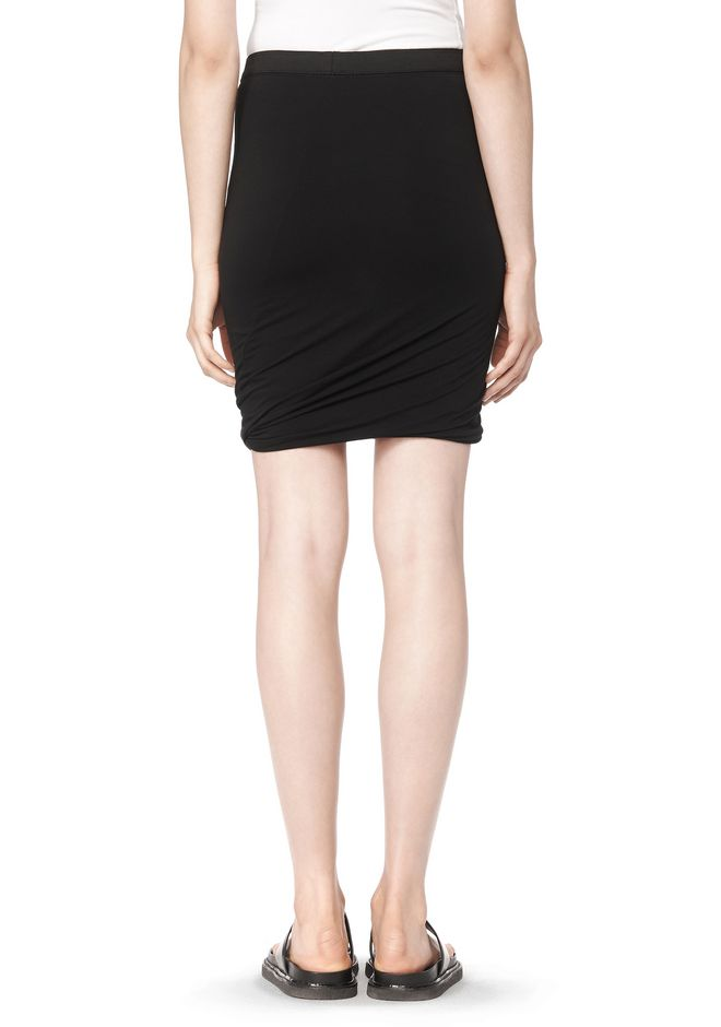 T by ALEXANDER WANG CLASSIC MICRO MODAL SPANDEX TWIST SKIRT Skirt Adult 12_n_a