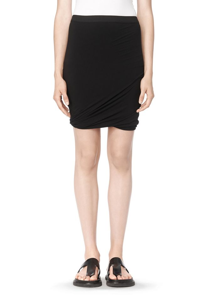 T by ALEXANDER WANG CLASSIC MICRO MODAL SPANDEX TWIST SKIRT Skirt Adult 12_n_d