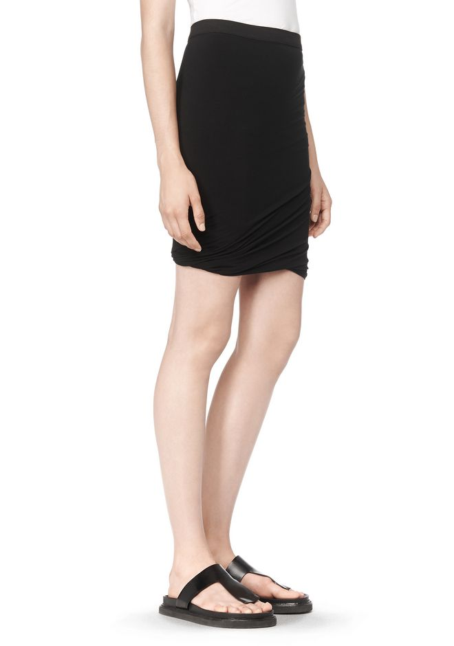 T by ALEXANDER WANG CLASSIC MICRO MODAL SPANDEX TWIST SKIRT Skirt Adult 12_n_e