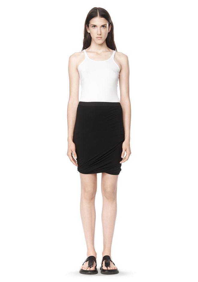T by ALEXANDER WANG CLASSIC MICRO MODAL SPANDEX TWIST SKIRT