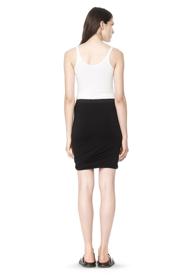 T by ALEXANDER WANG CLASSIC MICRO MODAL SPANDEX TWIST SKIRT Skirt Adult 12_n_r