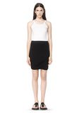 T by ALEXANDER WANG CLASSIC MICRO MODAL SPANDEX TWIST SKIRT Skirt Adult 8_n_f