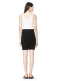 T by ALEXANDER WANG CLASSIC MICRO MODAL SPANDEX TWIST SKIRT Skirt Adult 8_n_r
