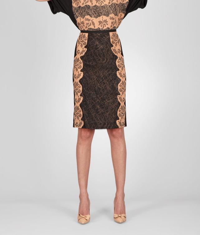 BOTTEGA VENETA Studded Viscose Crepe Printed Skirt Skirt or trouser D fp