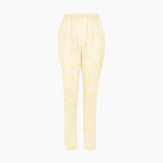 Stella McCartney, Guipure Silk Satin Print Christine Trousers