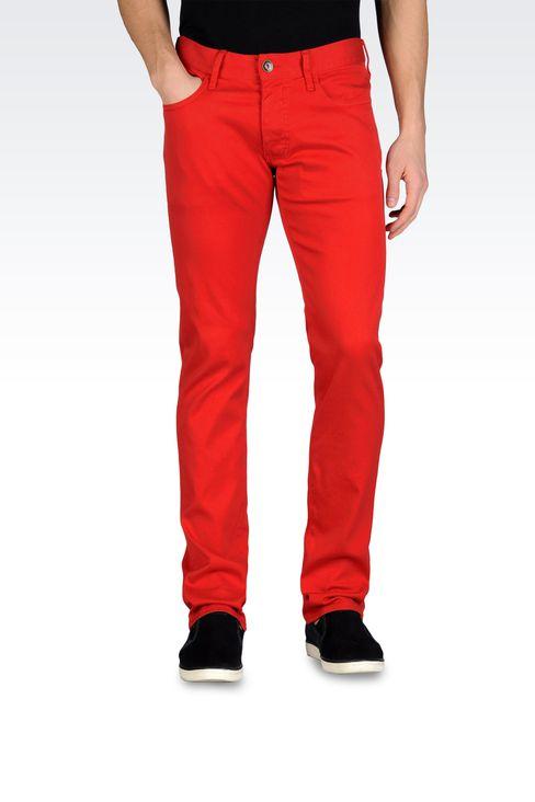 Armani Jeans Men 5 pocket extra slim fit jeans - Armani.com