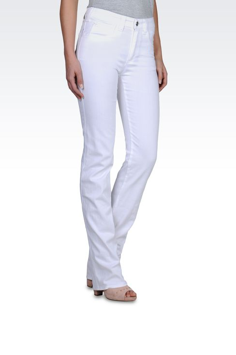 REGULAR FIT JEANS IN COTTON GABARDINE: 5 pockets Women by Armani - 1