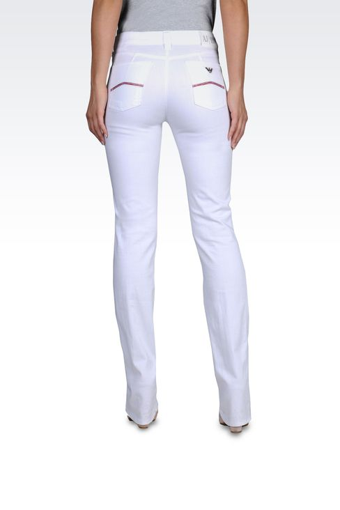 REGULAR FIT JEANS IN COTTON GABARDINE: 5 pockets Women by Armani - 2