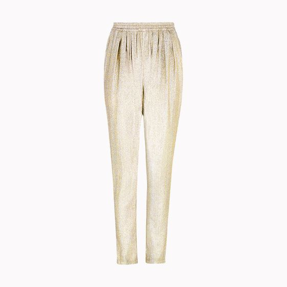 Stella McCartney, Pantalon Christine en soie lurex Georgette