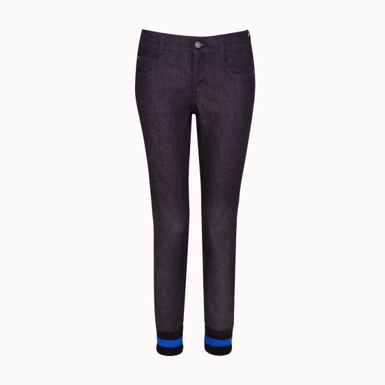 Stella McCartney, Dark Denim Jeans with Cuffs