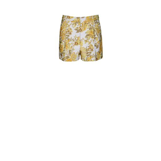 Stella McCartney, Shorts Warwick in Jacquard a Fiori Fluo