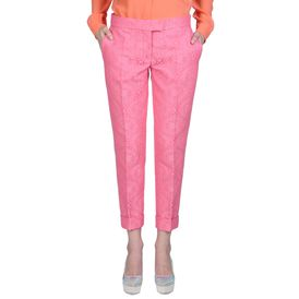 STELLA McCARTNEY, Stretto in fondo, Portland Trousers - Pantaloni in Jacquard Fluo