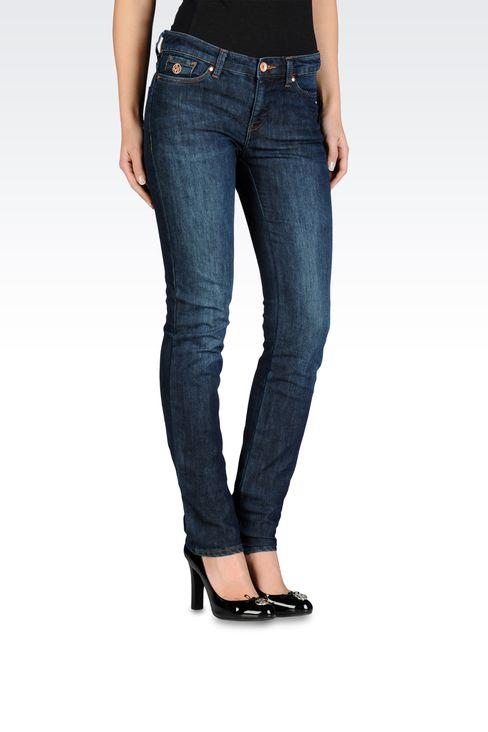 Armani Jeans Women Slim fit jeans, new raw used look - Armani.com