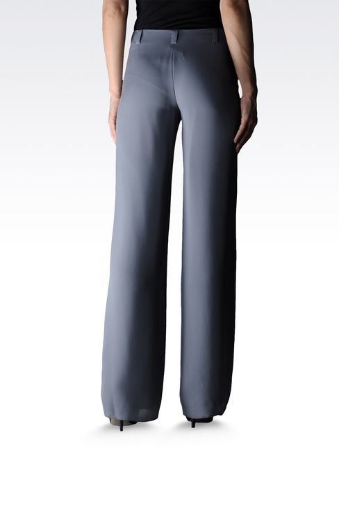 palazzo pants in pure silk: Wide-leg trousers Women by Armani - 2