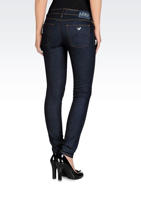 Skinny jeans, blue black wash: Jeans Women by Armani - 2