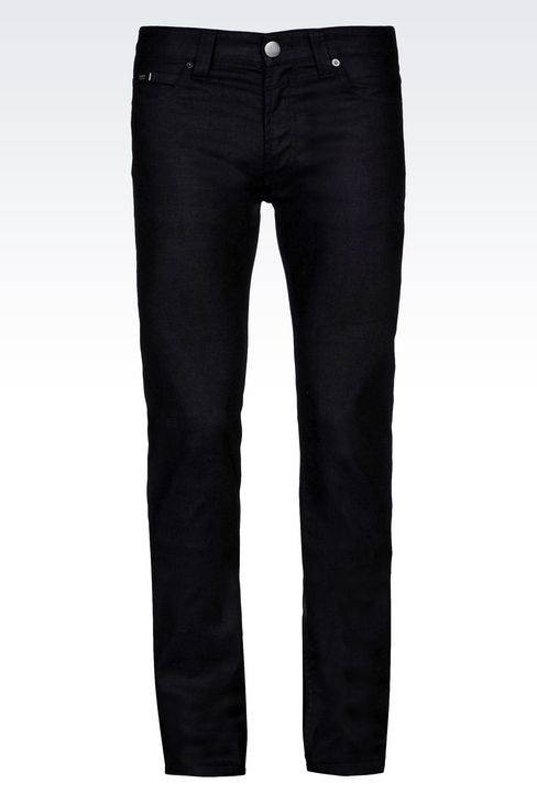 Armani Collezioni Men REGULAR FIT DARK WASH JEANS - Armani.com