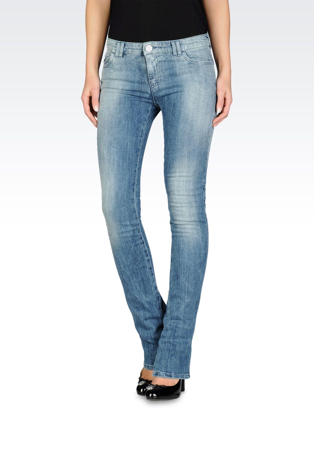armani jeans women slim fit jeans used look medium light. Black Bedroom Furniture Sets. Home Design Ideas
