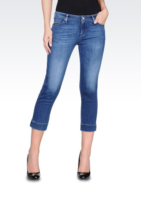 Slim fit jeans, vintage look, medium wash: Jeans Women by Armani - 1