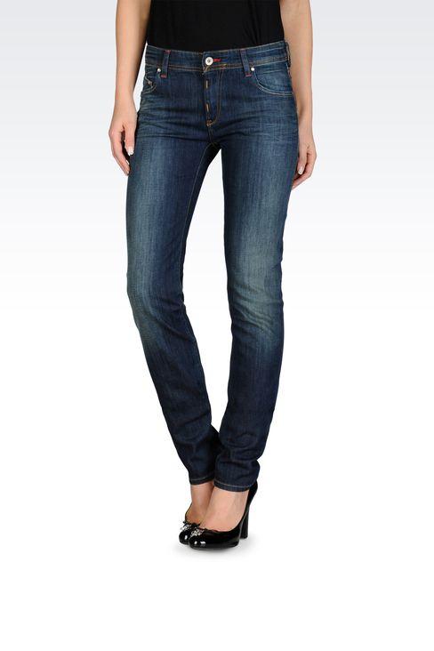 Armani Jeans Women Slim fit jeans, medium dark wash - Armani.com