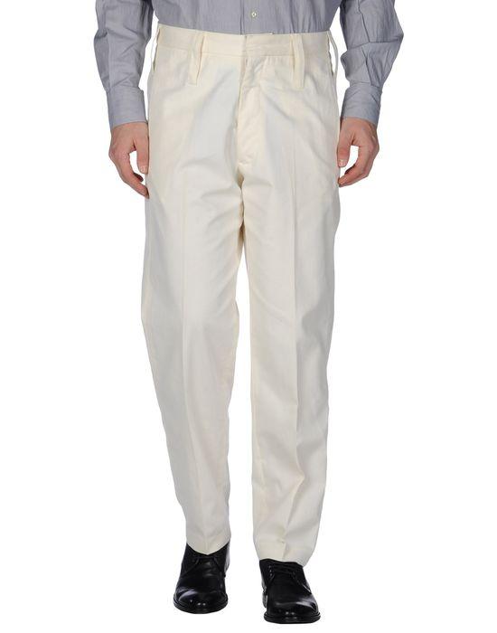 Классические брюки DOLCE & GABBANA. Цвет: слоновая кость