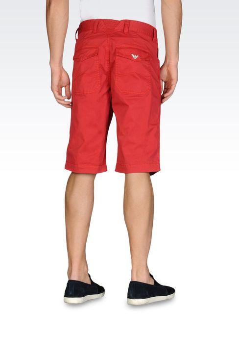 BERMUDA SHORTS IN PIGMENT DYED STRETCH GABARDINE: Bermuda shorts Men by Armani - 2
