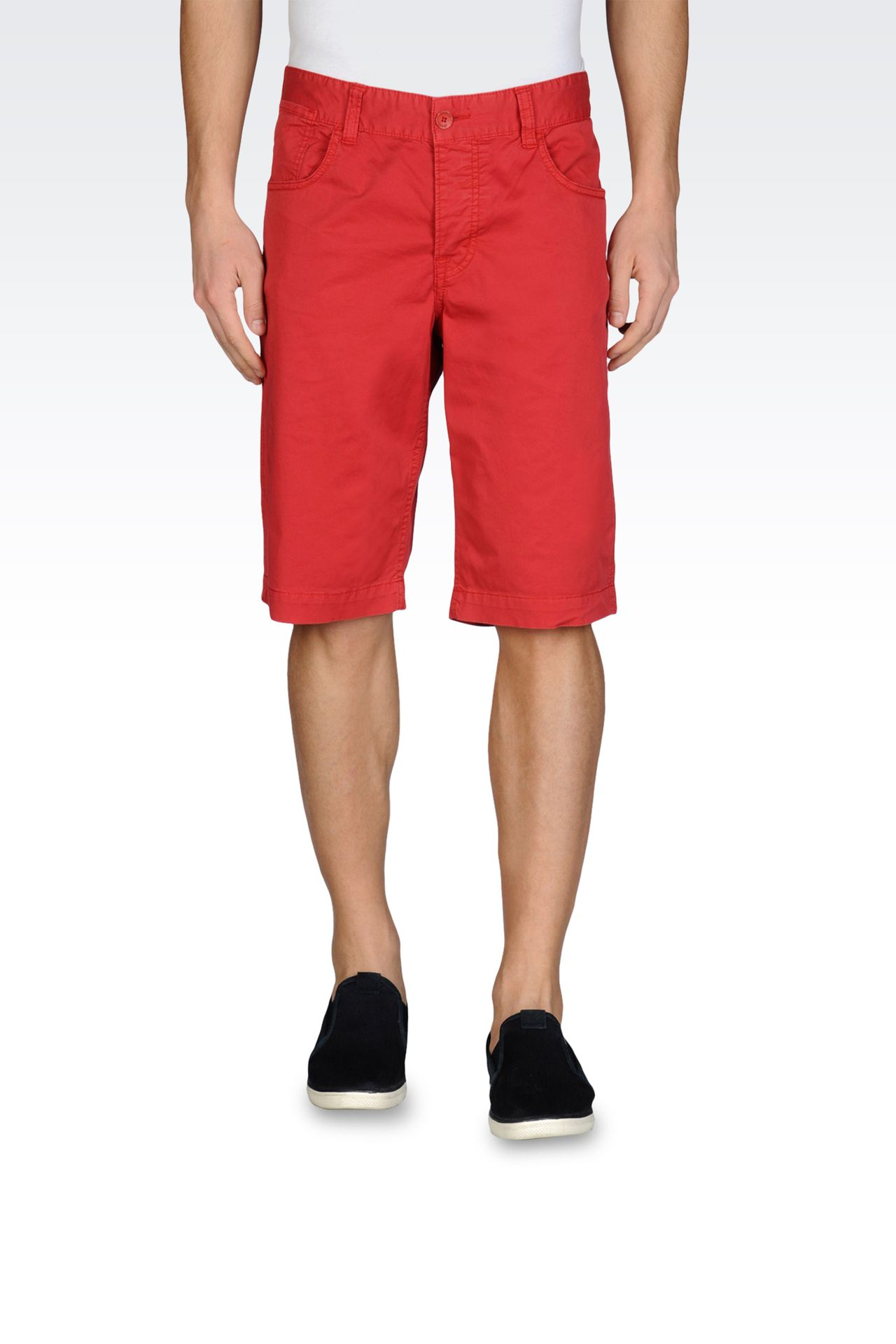 BERMUDA SHORTS IN PIGMENT DYED STRETCH GABARDINE: Bermuda shorts Men by Armani - 0