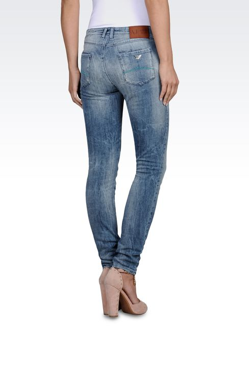 Slim fit jeggings, used look: Jeans Women by Armani - 2