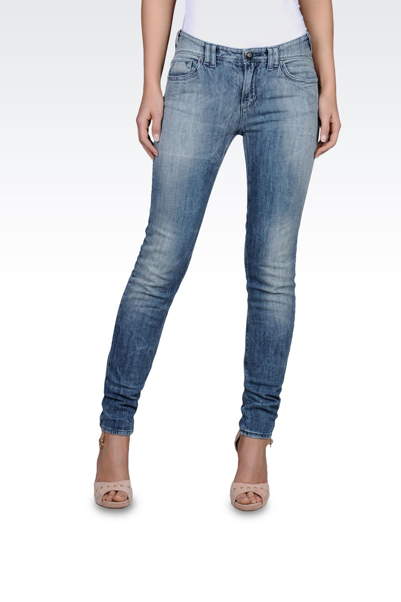 Slim fit jeggings, used look: Jeans Women by Armani - 0