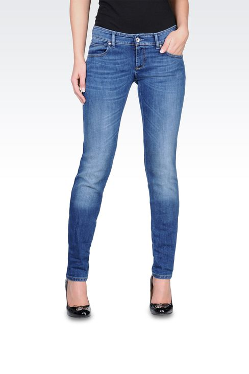 Armani Jeans Women Super soft skinny jeans, medium wash - Armani.com