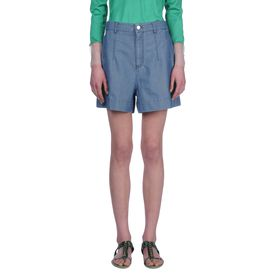 STELLA McCARTNEY, Shorts, Oxford Chambray Kitt Shorts