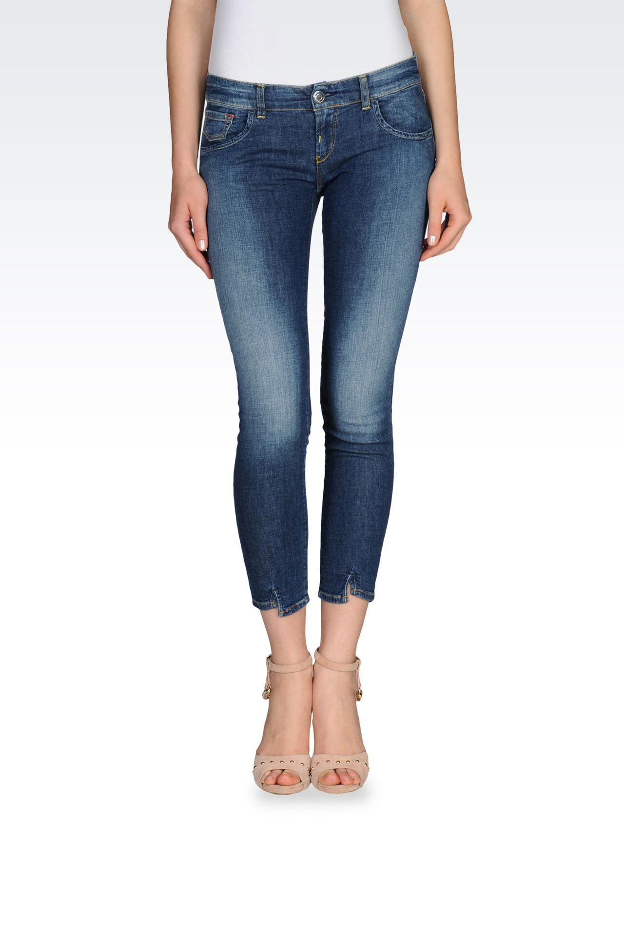 SLIM FIT JEANS IN LIGHT STRETCH DENIM: Jeans Women by Armani - 0