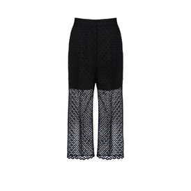 STELLA McCARTNEY, Formale, Pantaloni Lydia con Ricamo a Intaglio
