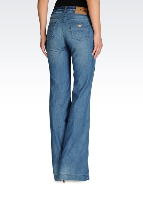 LOW RISE JEANS FLARED LEG WITH APPLIQUES: Jeans Women by Armani - 2