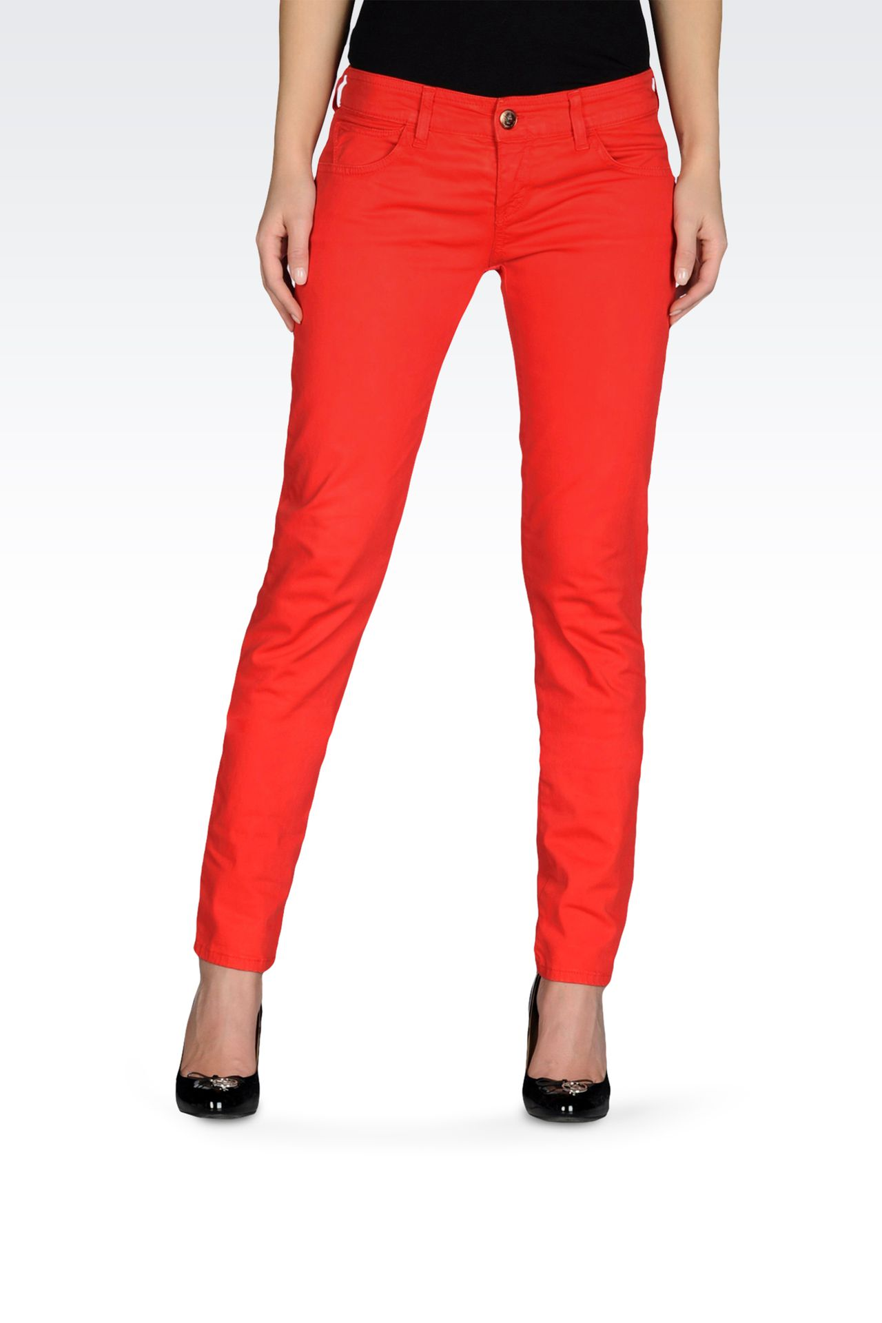 5 POCKET SKINNY JEANS IN STRETCH COTTON: 5 pockets Women by Armani - 0