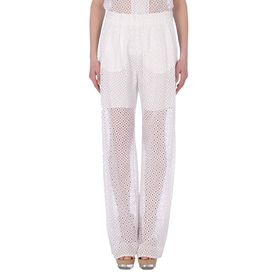 STELLA McCARTNEY, Coupe ajustée, Cutwork Embroidery Laila Trousers