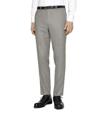 ERMENEGILDO ZEGNA: Dress pants Blue - Grey - Maroon - Ivory - 36441960NQ