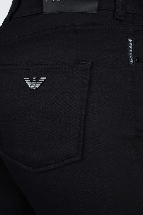SLIM FIT BLACK WASH JEANS: Jeans Women by Armani - 5
