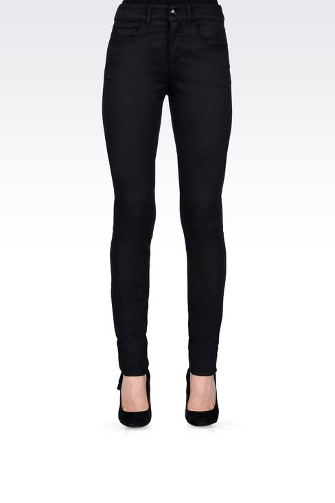 SLIM FIT BLACK WASH JEANS: Jeans Women by Armani - 3