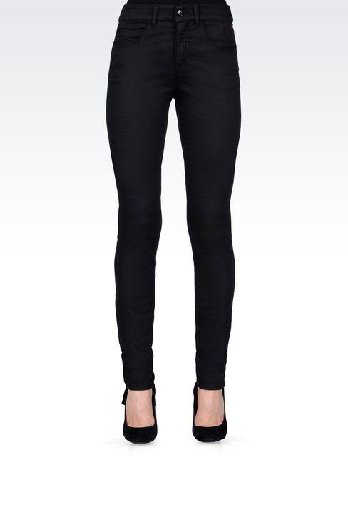 SLIM FIT BLACK WASH JEANS: Jeans Women by Armani - 3