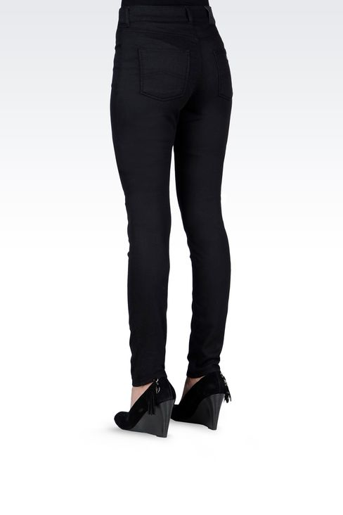 SLIM FIT BLACK WASH JEANS: Jeans Women by Armani - 4