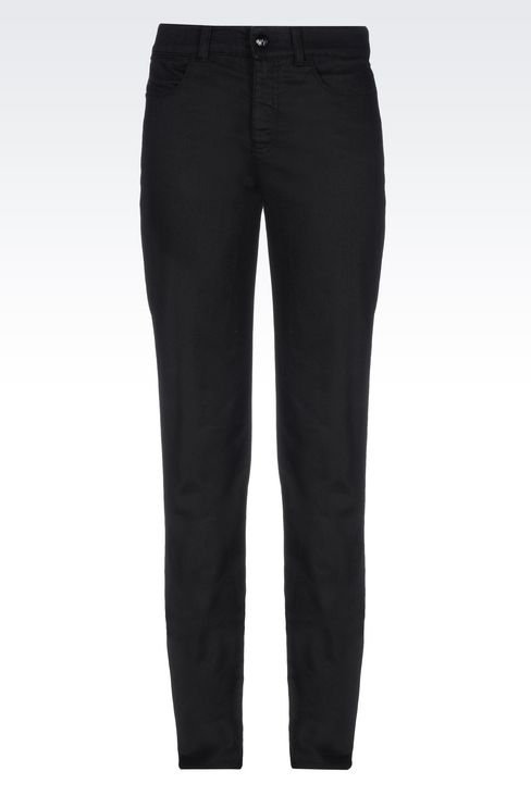 SLIM FIT BLACK WASH JEANS: Jeans Women by Armani - 1