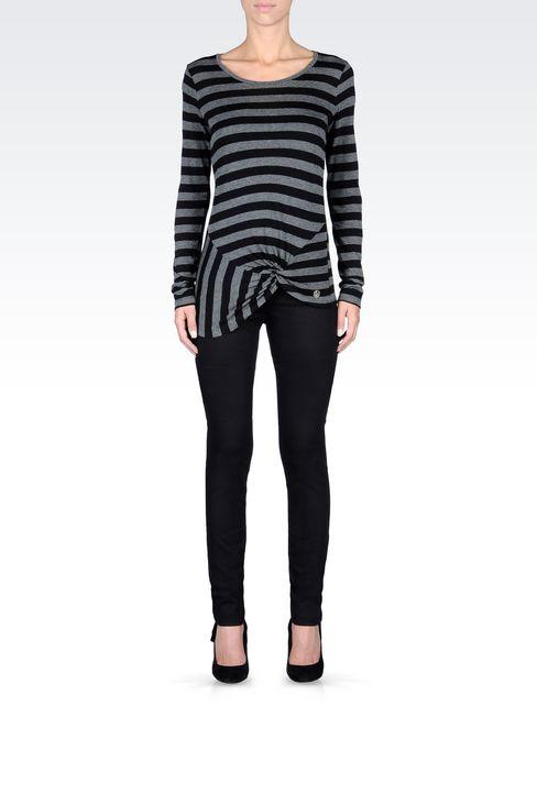 SLIM FIT BLACK WASH JEANS: Jeans Women by Armani - 2