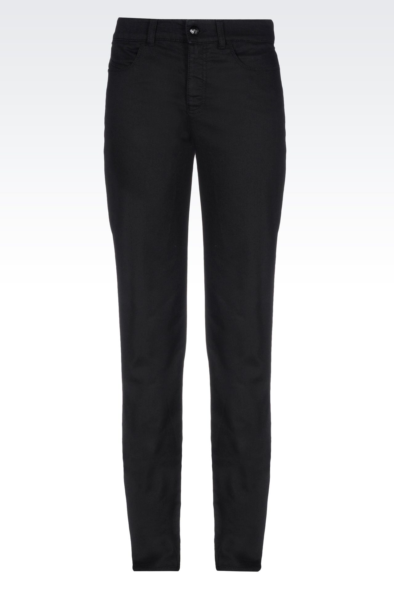 SLIM FIT BLACK WASH JEANS: Jeans Women by Armani - 0