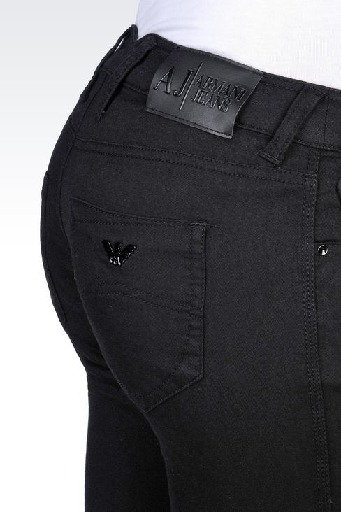 SLIM FIT DARK WASH JEANS: Jeans Women by Armani - 5