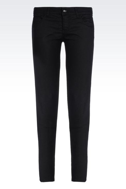 SLIM FIT DARK WASH JEANS: Jeans Women by Armani - 1