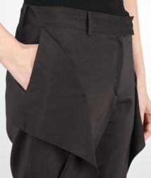 BOTTEGA VENETA - Skirts and pants, Nero Light Silk Pant