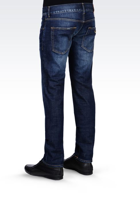 SKINNY MEDIUM BLUE JEANS: Jeans Men by Armani - 3