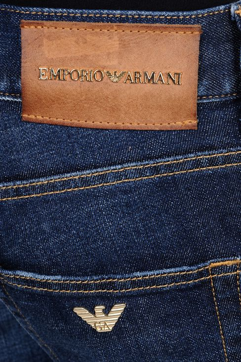 SKINNY MEDIUM BLUE JEANS: Jeans Men by Armani - 4