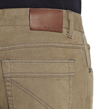 ZEGNA SPORT: 5-pockets Trousers Khaki - 36448079KF