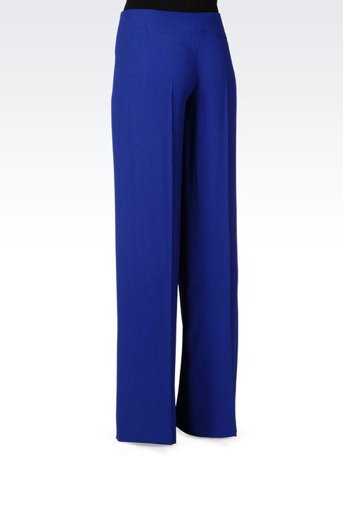 PALAZZO PANTS IN CRÊPE: Pants with tucks Women by Armani - 3